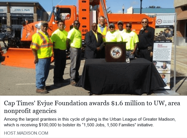 Cap Times' Evjue Foundation awards $1.6 million to UW, area nonprofit agencies