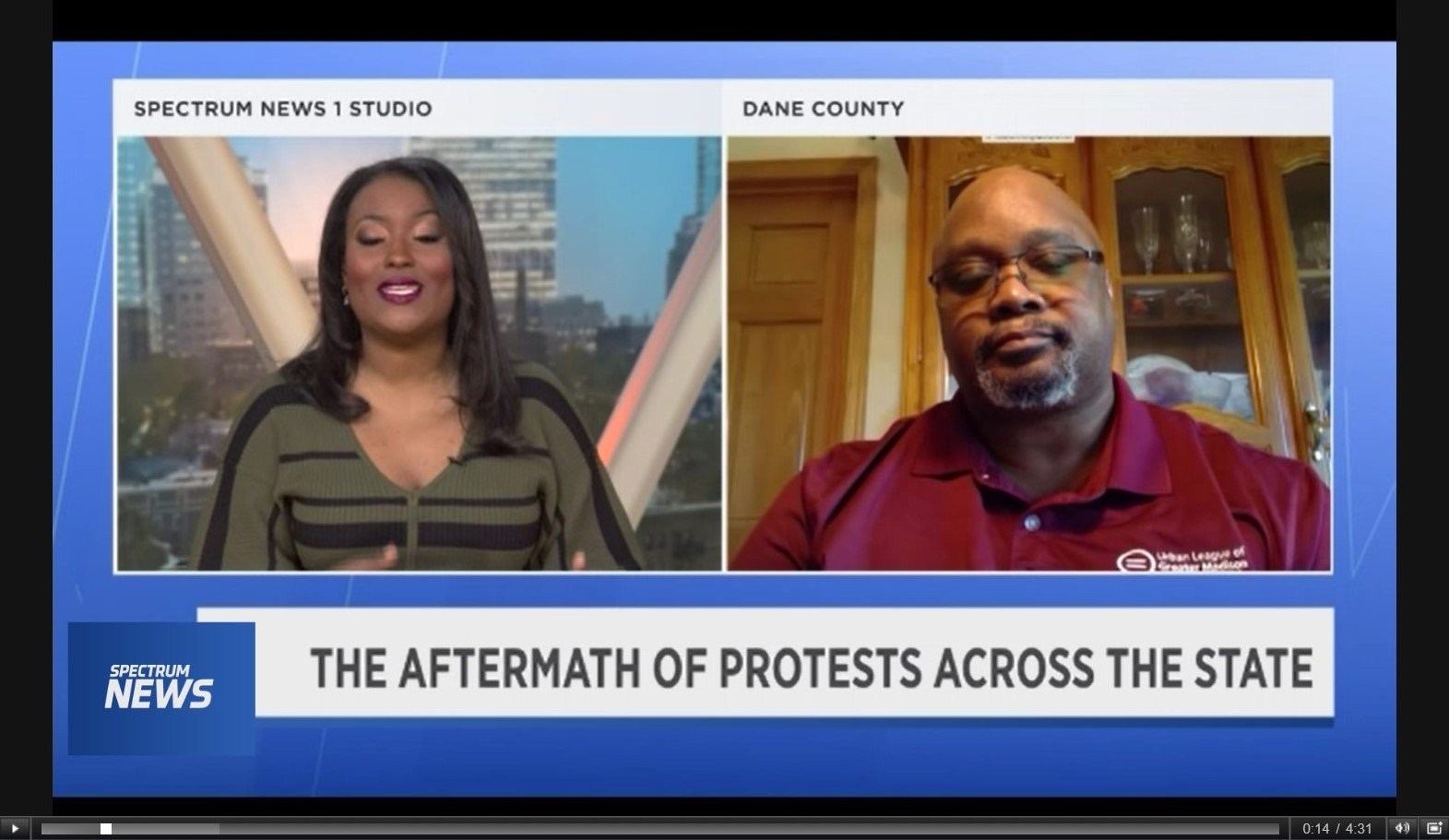 Ruben Anthony speaks with Spectrum News 1 about protests